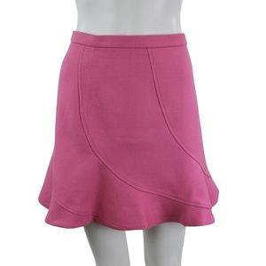 J Crew Pink Wool High Waist Flare Mini Skirt